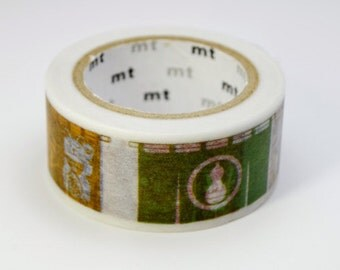 Discontinued-Limited Edition mt Japanese Washi Masking Tape Vol.1  - Japanese Shop Curtain (Noren) 20mm wide