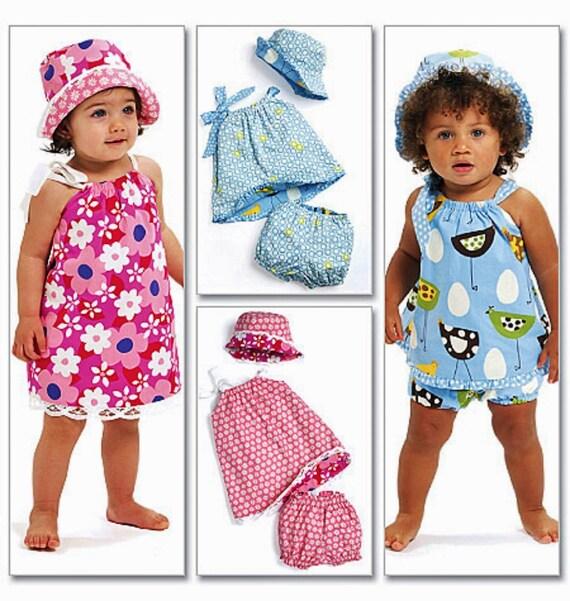Baby Girls' Reversible Sundress Pattern Toddler
