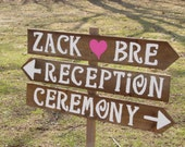 rustic Wedding Signs 3 LARGE painted wood signs 1 Tall Stake beach decorations country mr mrs signage reception baby bridal shower ceremony