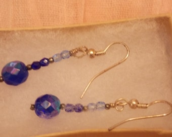 Cobalt blue earrings from Vintage Beads