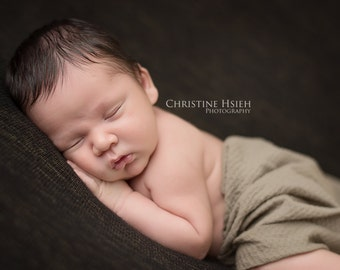 putty pucker stretch nylon newborn boy 0-3 months baby wrap photo prop READY TO SHIP