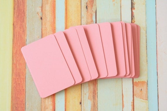 50pc ROSE Pink Vintage Series Business Card Blanks