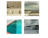 Mid Century Architecture  Set of Four  Square Photographs