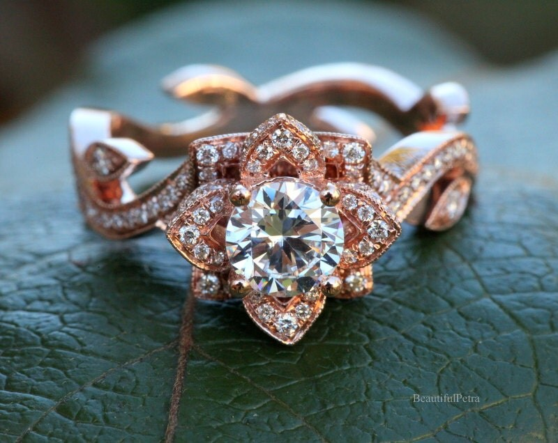Wedding Diamond Lotus Diamond Engagement Ring 2230231 Wallpaperzenorg