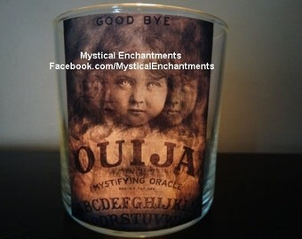 Halloween OUIJA votive candle holder ...GOOD BYE