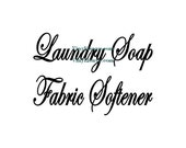 Laundry Room Labels, Laundry Soap, Fabric Softener - Wall Decal - Laundry Jar Decals, Jar Labels, Laundry Room Decal, Laundry Room Decor