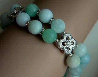 Amazonite Two Strand Bracelet