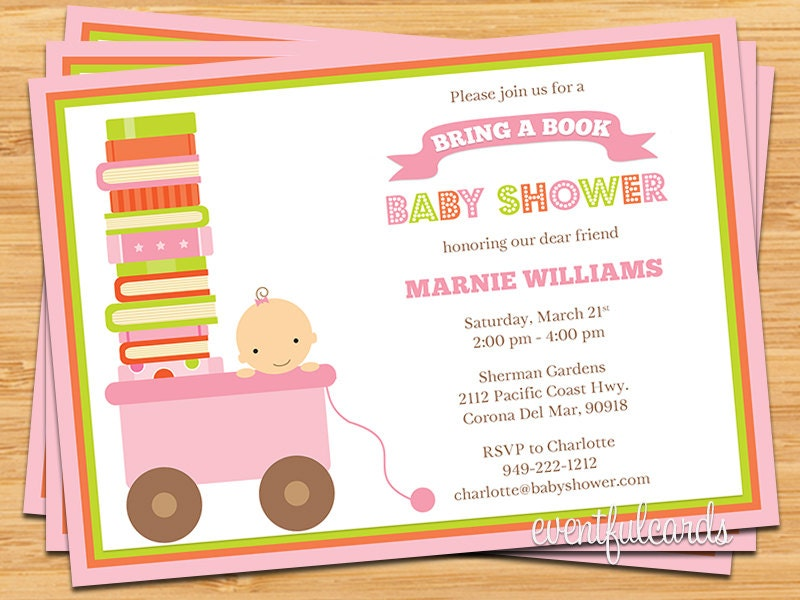 bring a book baby shower invitation by eventfulcards on etsy