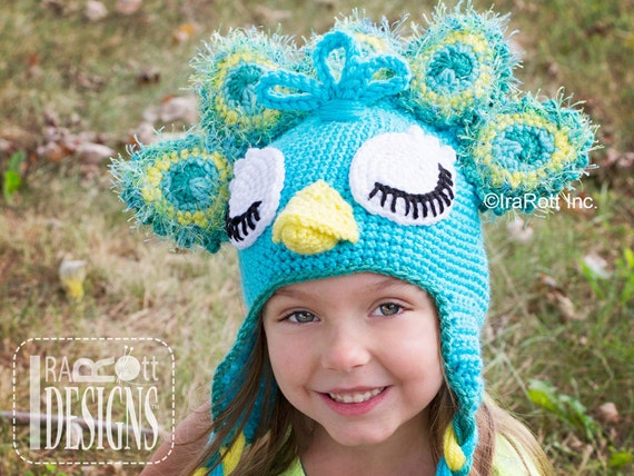 PATTERN Pavo the Peacock Hat PDF Crochet Pattern Instant ...
