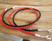 "25pc Twisted Nylon Cord Necklaces Handmade in USA Black Red Purple Maroon Gold 14"" 16"" 17"" 18"" 19"" 20"" 22"" 24"" 26"" 28"" 30"" Long"