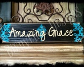 Amazing Grace on Wood Plaque