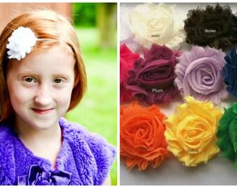 Headband Set...Shabby Rose Flower Headband Set...Choose any 3 shabby rose headbands