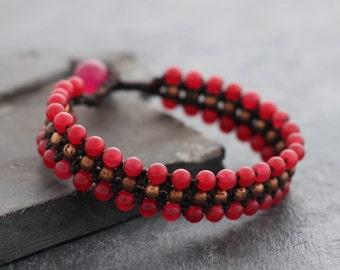 Cherry Rose Gold Band Bracelet