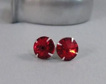 Ruby Earrings,Vintage Earrings,Earrings,Silver Earrings,Red Earrings,Ruby,Rubies,Red Earrings,Stud Earrings,Post Earrings.Valleygirldesigns