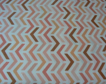 Michael Miller Ripples in Peach Cotton Fabric - 1 Yard