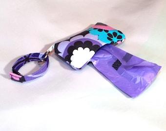 Poop Bag Dispenser for Leash or Collar in Flower Shower Fabric