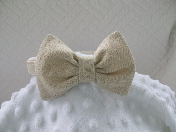 wedding dog collar bow tie