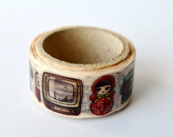 Retro Yano design debut series washi tape 20mm x 5M