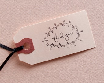 Mini Atomic Calligraphy Thank You Stamp