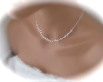 Wedding Necklace Bridal Jewelry Swarovski Crystal Necklace