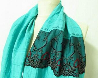 oversized scarf mint scarf infinity scarf ,circle scarf,Loop scarf soft scarf,  lace infinity scarf