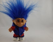 Vintage Russ Troll Doll Athlete Runner Jogger Athletic 1980's Collectible