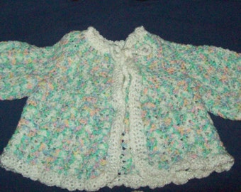 Baby Sweater Jacket Crochet Jacket  Sacque And Booties Crochet Sweater Crochet Baby Shoes Baby Shower Gift Set