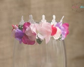 pink spring crown infant headband