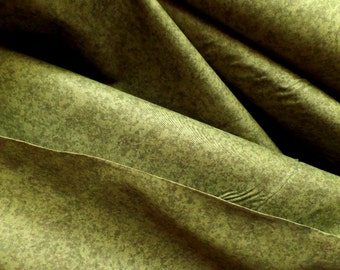 Quilting Fabric Olive Green Textured Solid Designer Dapples by Freespirit D43 Blender Material