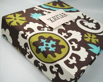 Baby Book, Brown Chocolate, Boy Baby Memory Book, Baby Boy Scrapbook, Modern baby Book, 8.5x11