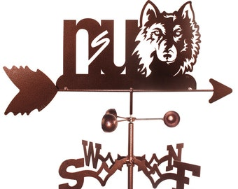 Hand Made Northern State Wolves Weathervane New