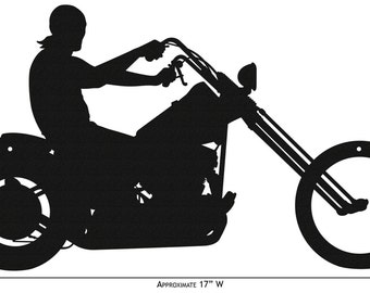 Hand Made Easy Rider Motorcycle Simple Silhouette *NEW*