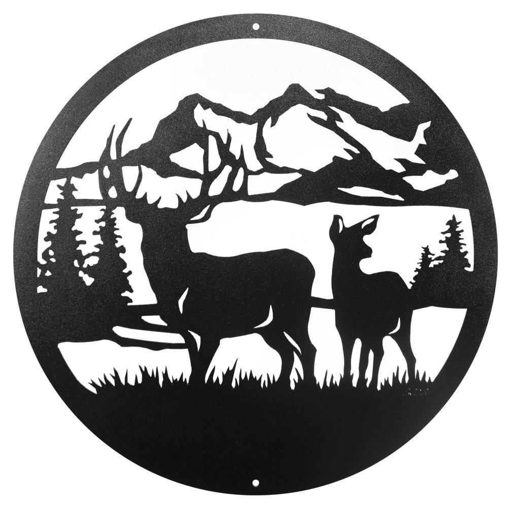 Hand Made Deer Buck Wildlife Scenic Art Wall Designn New