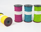 Paper Twine on a Old Wooden Bobbin - Paper Cord - DIY - Old Spool - Christmas Gift Wrap