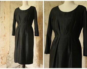 Black 'Robell' Paris 1960s Dress