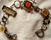 CLEARANCE Industrial Chic Speak Pendant and others Link Bracelet