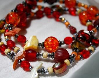 Red, Orange, and Yellow Birds Bracelet Set
