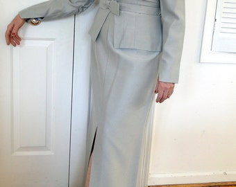 Mother-of-the Bride or Groom Silver Gray Dress - Size 12