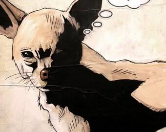 Chihuahua - 8x10 Art Print - Love - Dog
