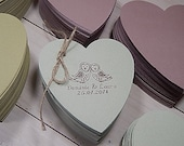 10 x Quality Small Heart Shaped Flat Cards Using Natural Raw Material By-Products 3 Colour Choices