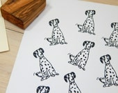 Charity Stamp Dalmatian Dog Olive Wood Stamp