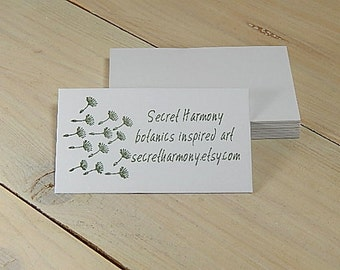 Quality White Business Card Blanks (50)