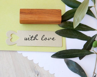 With Love Olive Wood Stamp