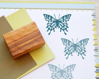 Ornate Butterfly  Olive Wood Stamp