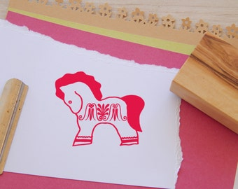 Dala Horse Olive Wood Stamp