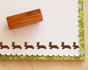 Rabbit Trio Olive Wood Stamp