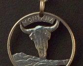 Montana, Nebraska, Nevada, New Hampshire, New Jersey State Quarter Hand Cut Coin Jewelry