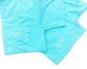 monogrammed sorority shirt, big, little shirt,