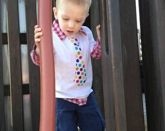Boy's Spring Tie Shirt
