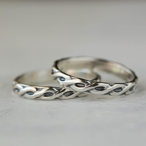 Simple Braid Sterling Silver Band